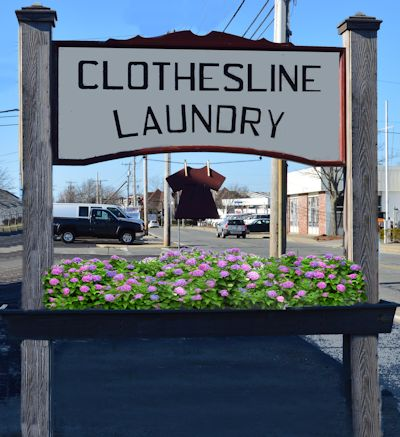 Cape Cod Clothesline Laundry sign